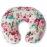Minky Nursing Pillow Cover | White Floral Pattern