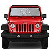 Windshield Sun Shade for Jeep Wrangler Rubicon Toyota FJ Cruiser XS