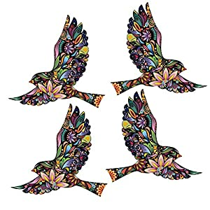 Amazoncom My Wonderful Walls Flying Floral Bird Decals For Walls - Window alert hummingbird decals amazon