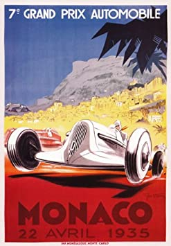 VINTAGE 1935 MERCEDES BENZ ADVERTISING A4 POSTER PRINT