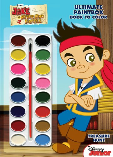 Disney Junior Ultimate Paintbox Book to Color (Peter Pan Jake And The Neverland Pirates)