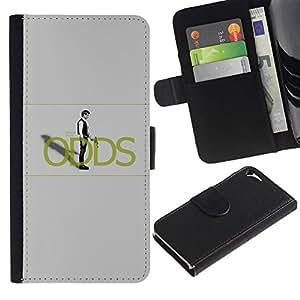 KLONGSHOP // Tirón de la caja Cartera de cuero con ranuras para tarjetas - Han Sol0 Probabilidades - Apple Iphone 5 / 5S //