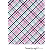2018 Mom on the Go Planner by In the Leafy Treetops | 2018 Pink Plaid Agenda for Every Busy Mom On the Go - Daily Weekly and Monthly Family Organizer