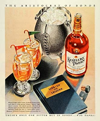 1944 Ad Glenmore Distilleries Kentucky Taverns Whiskey Football Ice Cube Holder - Original Print Ad