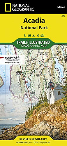 Acadia National Park (National Geographic Trails Illustrated Map)