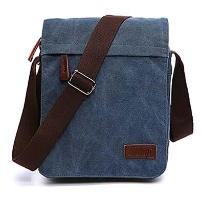 177db6f70418a Outreo Bolsos Bandolera Vintage Messenger Bag Maletines para Hombre Bolso  Bolsas de Viaje Tela para Laptop Colegio Bolso Mujer Escolares Sport  Casual  ...