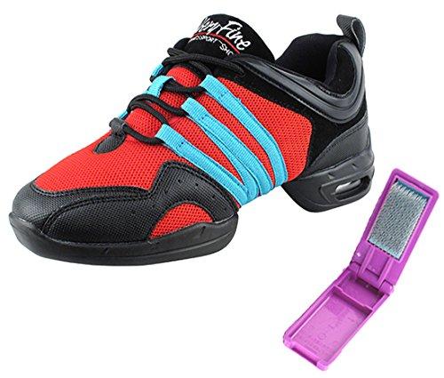 ae3a3925e12 Zeer Fijne Ballroom Latin Tango Salsa Dance Sneakers Schoenen Voor Vrouwen  Heren Vfsn011 + Opvouwbare Borstel