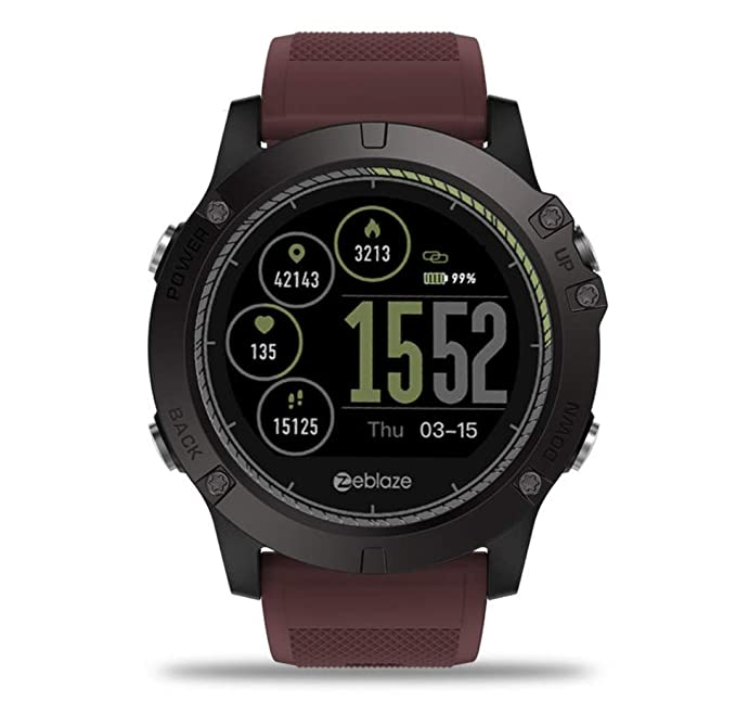 Zeblaze Vibe 3 HR Smartwatch IP67 Waterproof Wearable Device Heart Rate Monitor IPS Color Display Sport Smart Watch (Black)