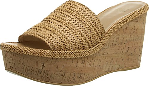 Stuart Weitzman Women's Halfday Camel Laniard Wedge