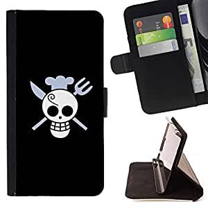 For HTC DESIRE 816 Funny Skull Chef Death Style PU Leather Case Wallet Flip Stand Flap Closure Cover