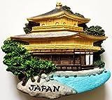 Kinkaku-ji Temple (The Golden Pavilion) Kyoto Japan High Quality Resin 3D fridge Refrigerator Thai Magnet Hand Made