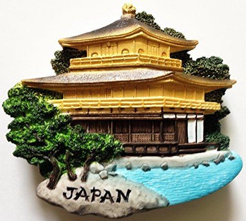 Kinkaku-ji Temple (The Golden Pavilion) Kyoto Japan High Quality Resin 3D fridge Refrigerator Thai Magnet Hand Made Craft.