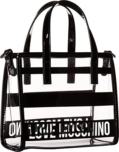 LOVE Moschino Women's Transparent Mini Tote Black One Size by Love Moschino (Image #1)