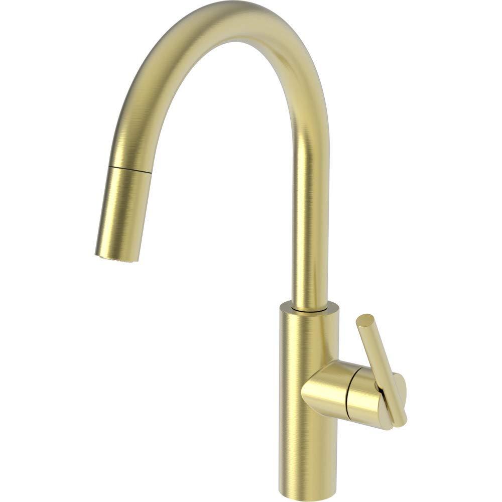 Newport Brass 1500-5113/04 Pull-Down Kitchen Faucet Satin Brass - Pvd East Linear