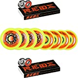 Labeda Wheels 80mm /76mm Hilo Gripper Yellow Med Inline Hockey 83A Bones Reds