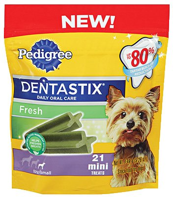 Pedigree Fresh Dentastix 21 Mini Treats Small/Toy Dogs, 5.26 oz (Pack of 2) Packaging May Vary