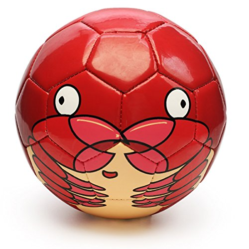 PP PICADOR Toddler Soccer Ball Toy Cute Cartoon TPU Soccer Toy Gift with Pump (Red Crab, Size 1)