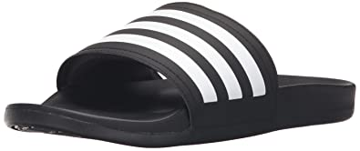 adidas Performance Men's Adilette CF+ C Slide Sandal, BlackWhiteBlack, 10