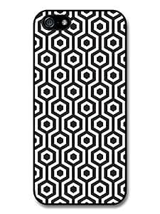 Vintage Retro Pattern Black iPhone 5 Case 098C