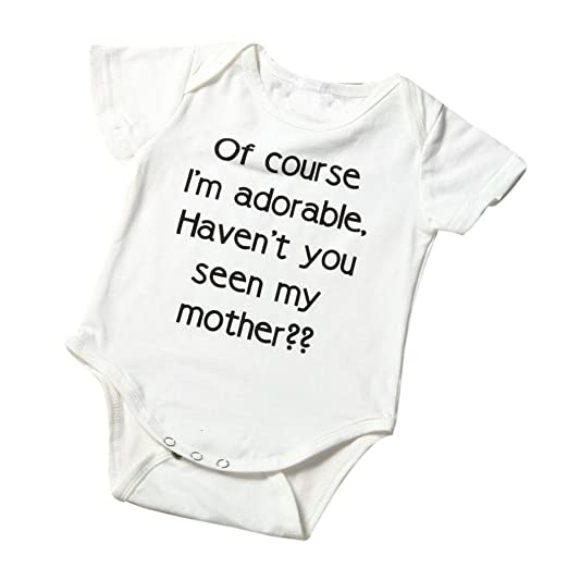 542240ad8b1f Amazon.com  Hatoys Baby Boys Girls Cute Letter Jumpsuit Climbing ...