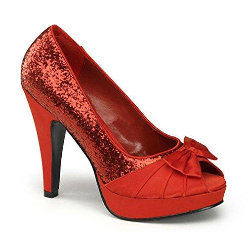 Glitter Pumps rot Rot