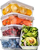 [5-Pack,30oz] Glass Meal Prep Containers - Food Prep Containers with Lids Meal Prep - Glass Food Storage Containers Airtight - Lunch Containers Portion Control Containers - BPA Free Container: more info