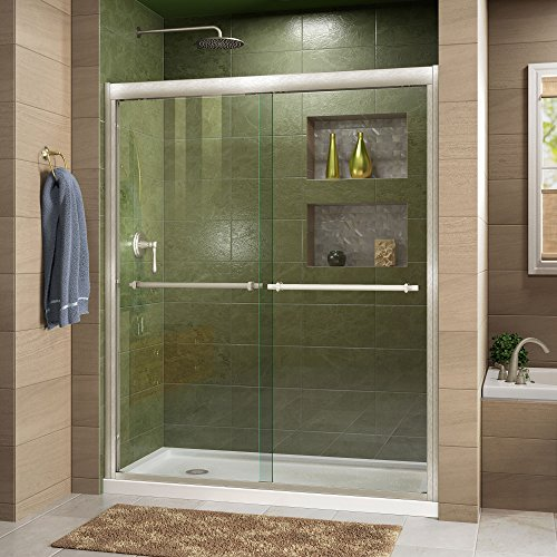 DreamLine Duet 56-60 in. Width, Frameless Bypass Sliding Shower Door, 5/16