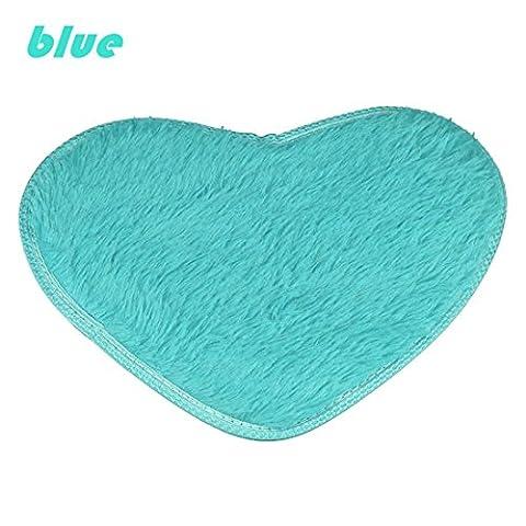 Non-slip Bath Mats,Hemlock 4028cm Fluffy Rugs Anti-Slip Kitchen Bathroom Home Floor Carpet (Blue) (Girls Black Rug)