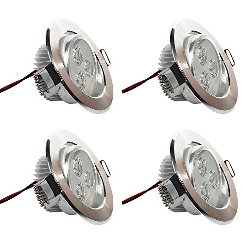 Toilet Kit Electric Conversion - [Pack of 4]eSavebulbs 3W LED Spotlight Dimmable LED Recessed Ceiling Downlight 6000K Daylight White Light Fixture AC 110V