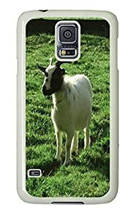 Samsung S5 new cases Lonely Goat Animal PC White Custom Samsung Galaxy S5 Case Cover