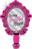 39 Inch Beautiful Mom Mirror Holographic Balloon - 5 Pieces
