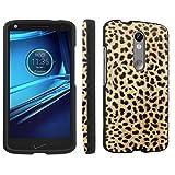 Motorola Droid Turbo 2 / Moto X Force 2 / Kinzie Bounce Xt1585 Case, [SkinGuardz] Black Form Fit Fancy Protection Case - [Animal Lover] Print Design