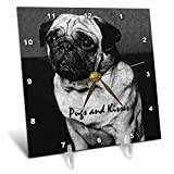 Dogs Pug – Pug, Pugs and Kisses – 6×6 Desk Clock (dc_251_1) Review