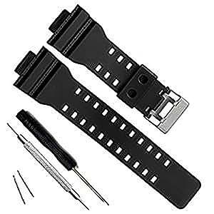 Dailychoices 16mm WATCH BAND STRAP FITS CASIO G SHOCK GA-100 G-8900 GW-8900 PINS TOOL AU
