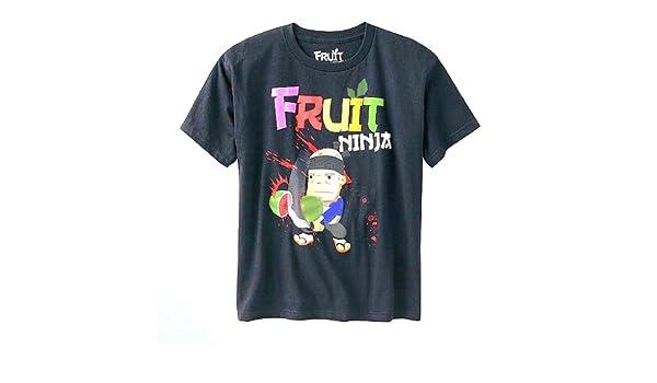 Amazon.com: Fruit Ninja Tee Medium(10/12) Black: Clothing