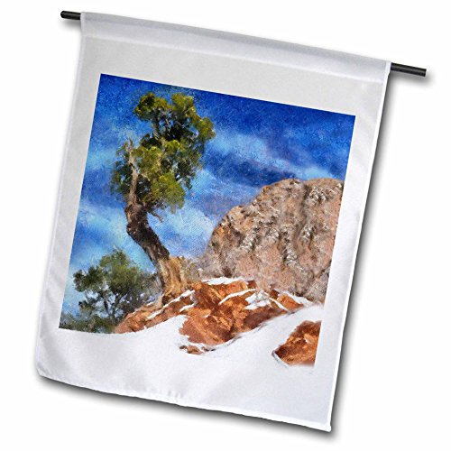 3dRose fl_38642_1 Colorado Mountains Bristlecone Pine Garden Flag, 12 by 18-Inch (Pine Designs Pillow Mountain)