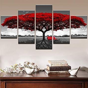 Maoyym1 Moderne Leinwand Wohnzimmer Bilder Malerei 5 Stückstücke
