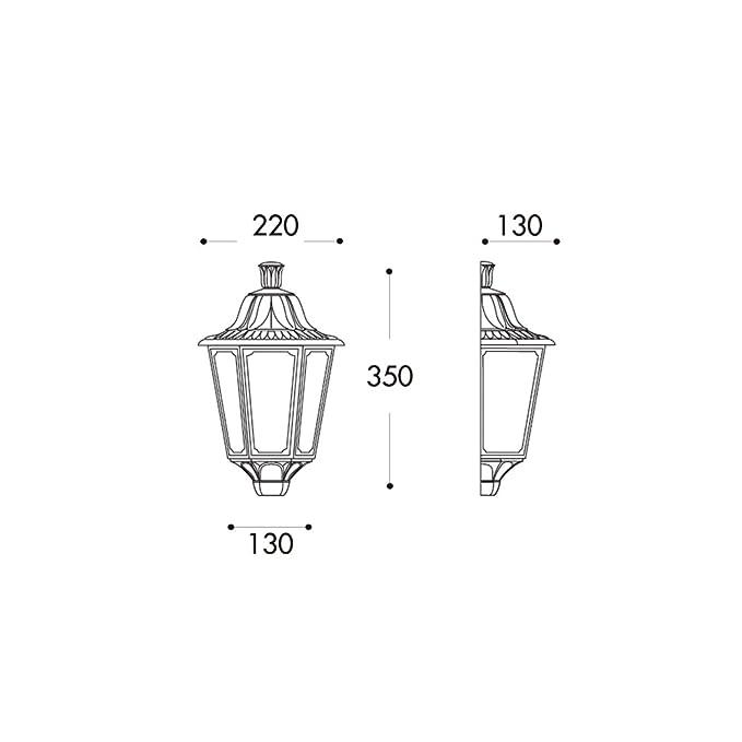 BarcelonaLED M22.000.000.AXE27 Farol de Pared Exterior IP55 Color Negro Difusor Transparente para Rosca E27 Estilo Clásico: Amazon.es: Iluminación