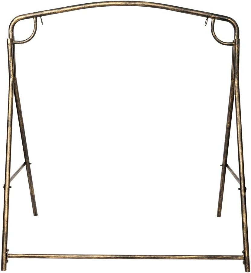 Weight Capacity 440LBS SSLine Heavy Duty Metal Swing Frame Vintage Bronze Finish Porch Swing Stand Strong Powder Coated Steel A-Frame Swing Frame Set for Most Swing Chair