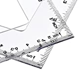 eBoot Triangle Ruler Square Set, 30/60 and 45/90