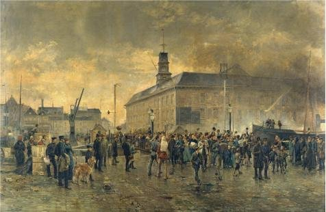 Oil Painting 'Louis Van Engelen - Belgian Emigrants, 1890' Printing On Polyster Canvas , 18x28 Inch / 46x70 Cm ,the Best Wall Art Decoration And Home Decor And Gifts Is (Storybook Halloween Costumes Teachers)