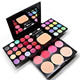 Spritech(TM) Professional 39 Colors Eyeshadow Palette Eye Shadow Pressed Powder Lipstick Blusher Beauty Tool Set