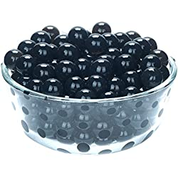 LOVOUS 3000 Pcs Water Beads, Crystal Soil Water Bead Gel, Wedding Decoration Vase Filler - Furniture Decorative Vase Filler, All Occasion Table Centerpiece Decorations (Black)