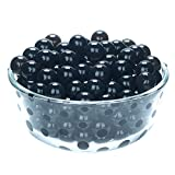 jelly beads vase - LOVOUS 3000 Pcs Water Beads, Crystal Soil Water Bead Gel, Wedding Decoration Vase Filler - Furniture Decorative Vase Filler, All Occasion Table Centerpiece Decorations (Black)