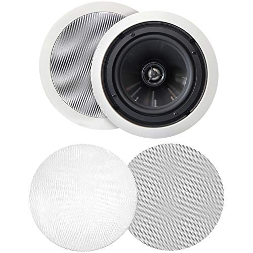 "BIC America Muro 6-1/2"" 2-Way In-Ceiling Speakers (Pair) White MSRPRO6"
