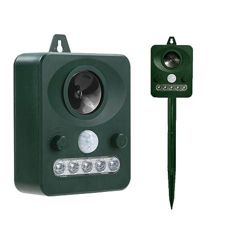 Amazon.Com : Ultrasonic Solar Outdoor Pest Repeller Electronic