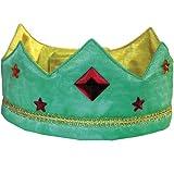 Sarah's Silks Green/Gold Reversible Silk Crown