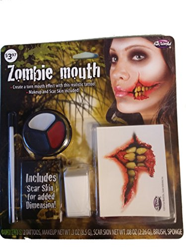 Zombie Mouth Makeup Kit - Halloween Mouth Makeup