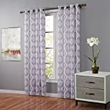 Bebling 2 Panels Grommet Top Window Curtain Panels – Each Panel Measures 52″W x 63″L