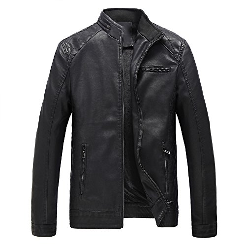 Bee Late Mens Biker Leather Bomber Jacket Coat Designer (Jackets Leather Mens Designer)